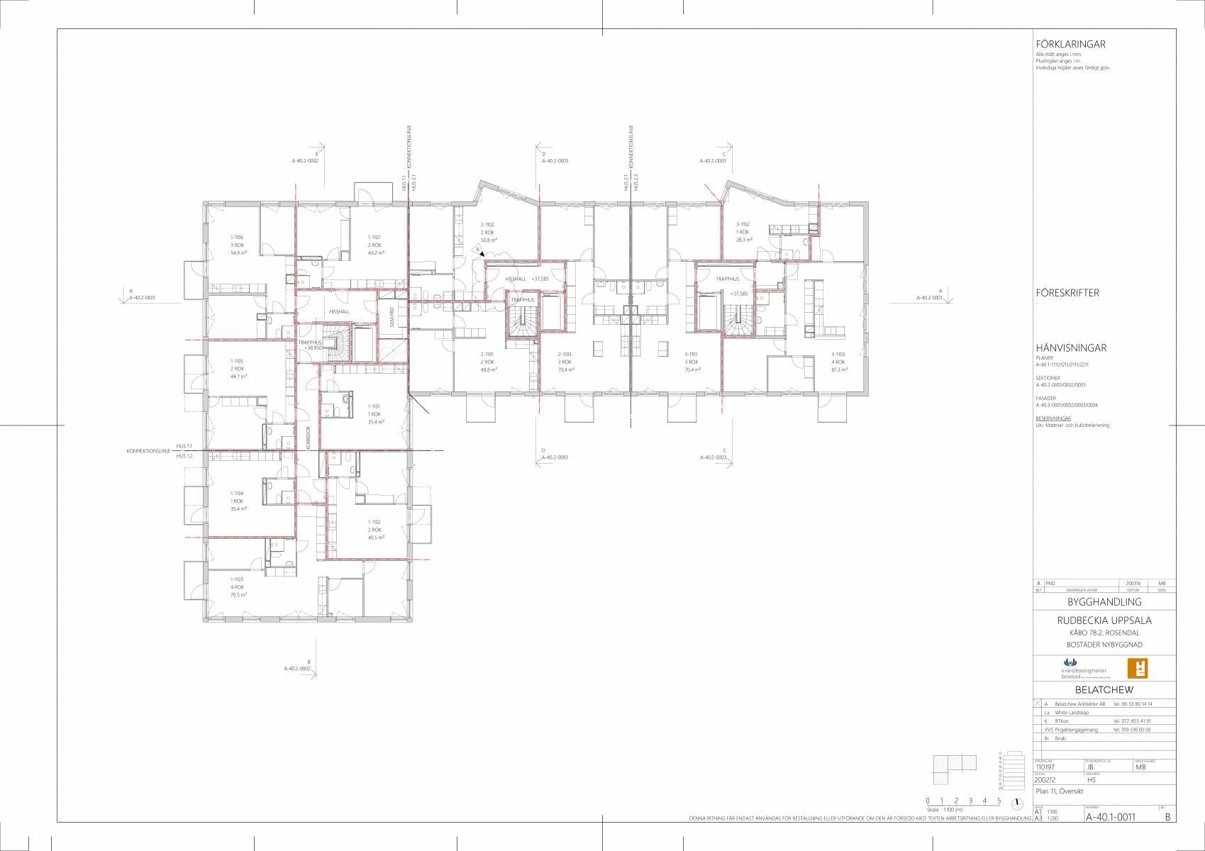 Planritning Våning 2, 3 och 4